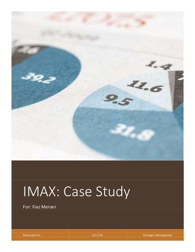 Imax case analysis