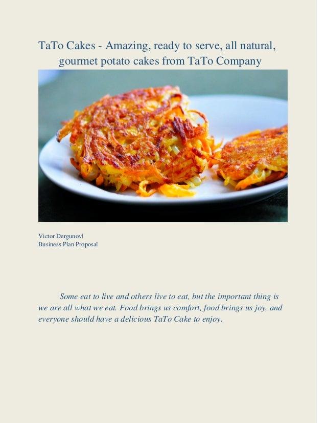 gourmet food business plan