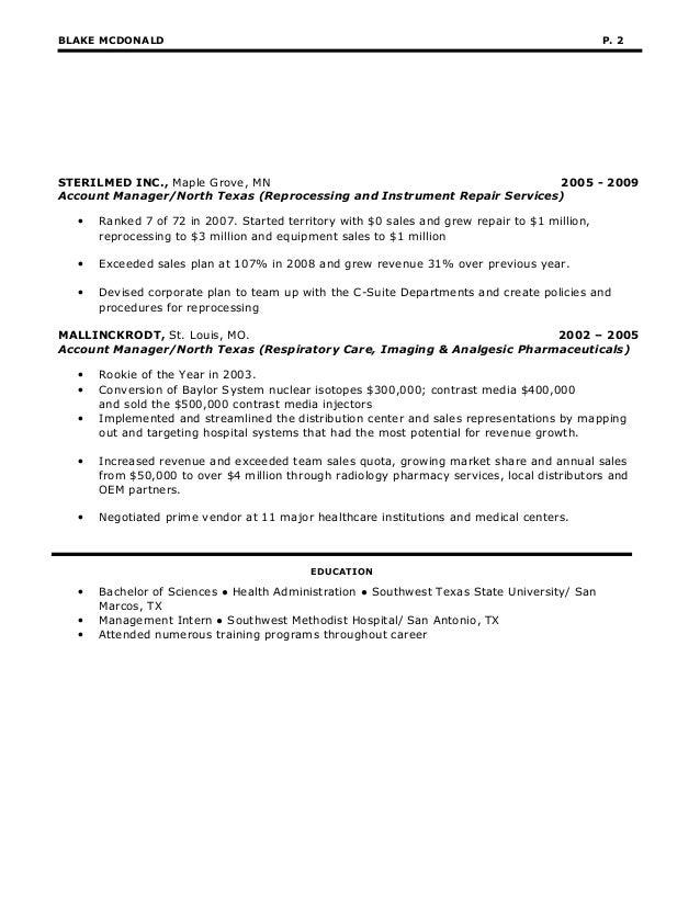 Blake McDonalds Resume 20161  Mcdonalds Resume