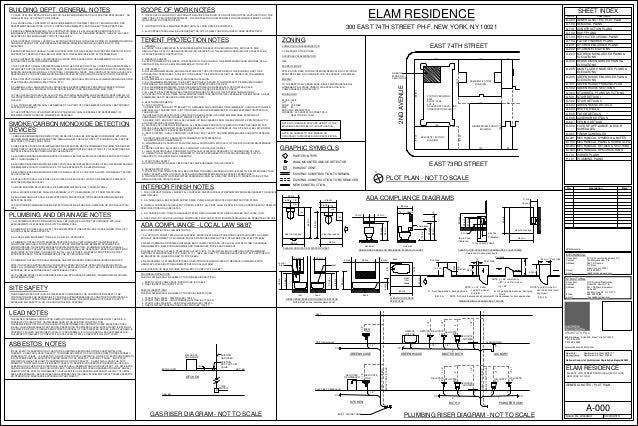 Elam pricing full set 4 - General notes for interior design drawings ...