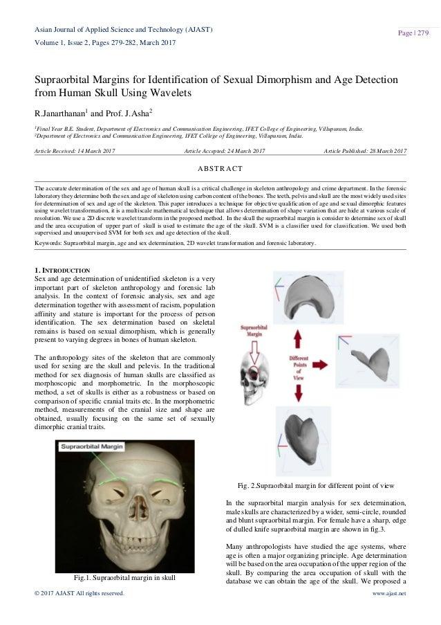 Sex determination in human skeletal identification