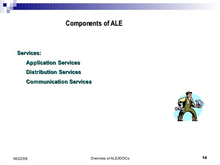 Components of ALE  Services: Application Services Distribution Services Communication Services