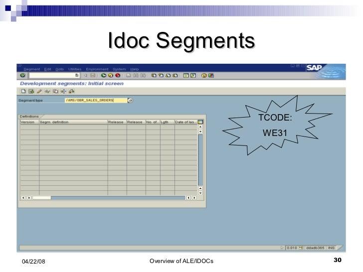 Idoc Segments TCODE: WE31