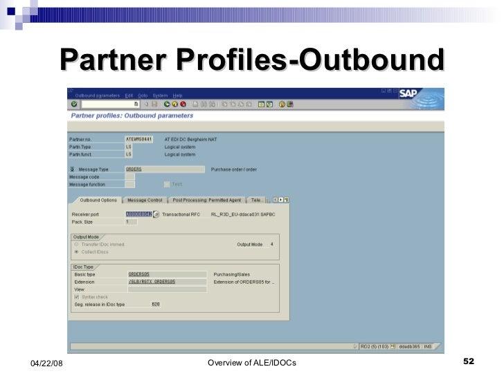 Partner Profiles-Outbound