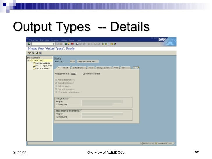 Output Types  -- Details