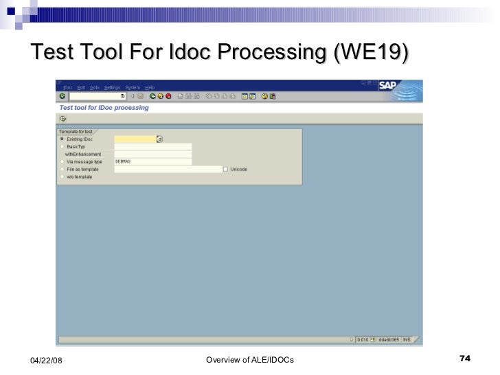 Test Tool For Idoc Processing (WE19)