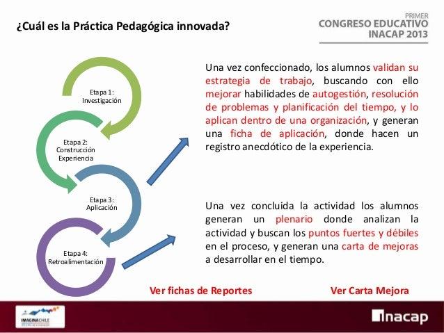 ¿Dónde se ha aplicada la innovación? Las experiencias innovadoras de enseñanza-aprendizaje se han ejecutado hace cinco año...