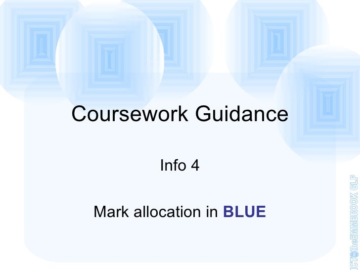 coursework info login