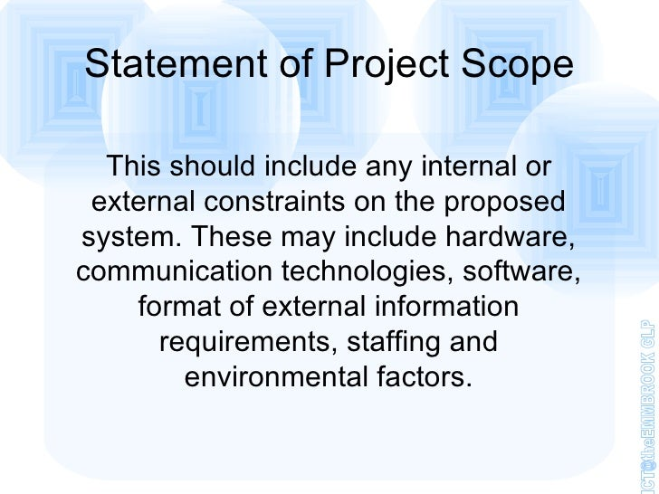 scope and problem statement of students mark analysis system To synthesize critical facts and relationships into a problem statement a few basics in any discussion of problem define the problem's scope or.