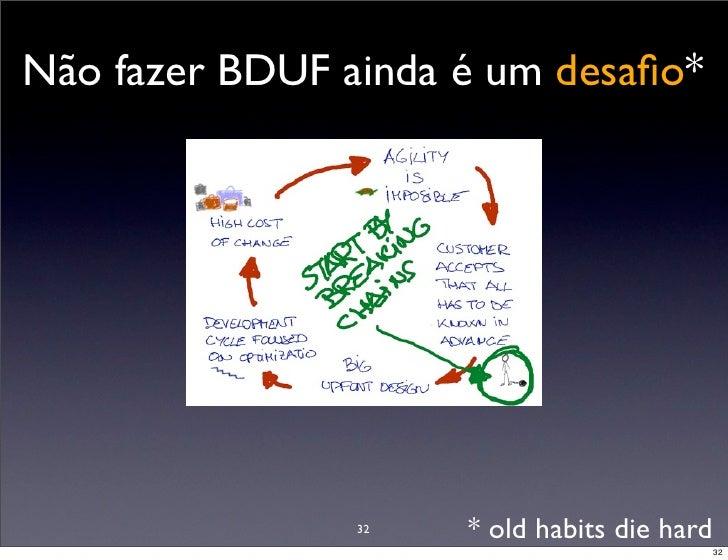 Não fazer BDUF ainda é um desafio*                     32   * old habits die hard                                          ...