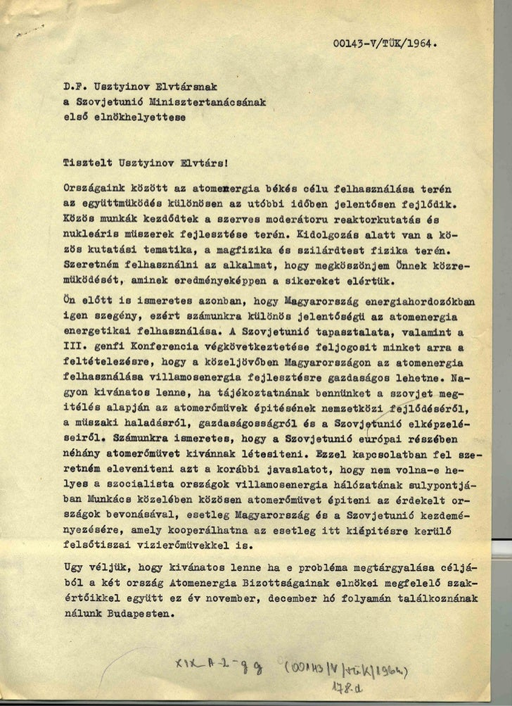 Apró levele Usztyinovnak (1964)