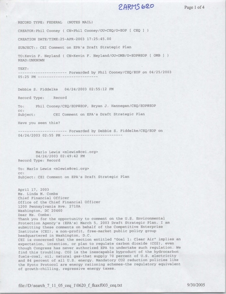 2fR(13 (OZ                Page 1 of 4   RECORD TYPE: FEDERAL          (NOTES MAIL)  CREATOR:Phil Cooney      C CN=Phil Coo...