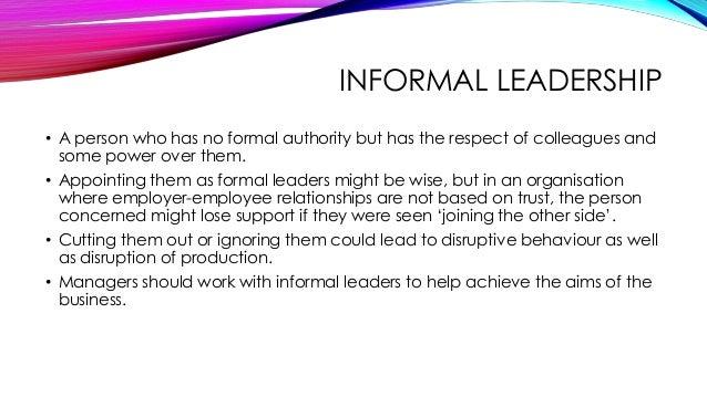 informal leader