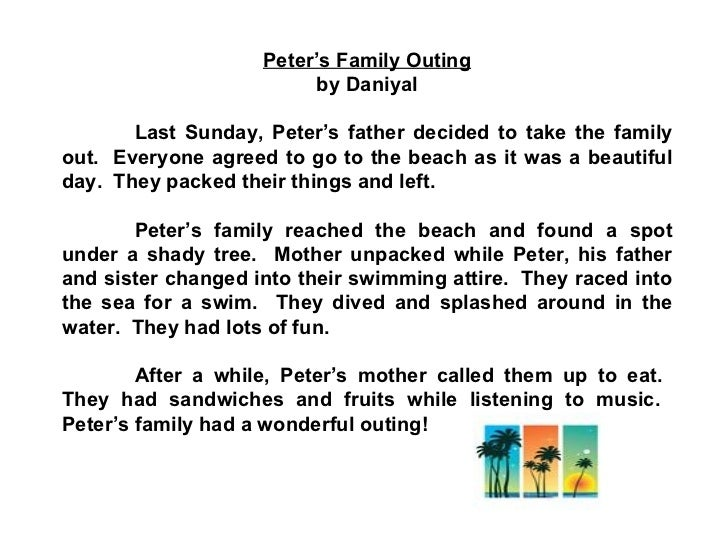 write a paragraph about your family example