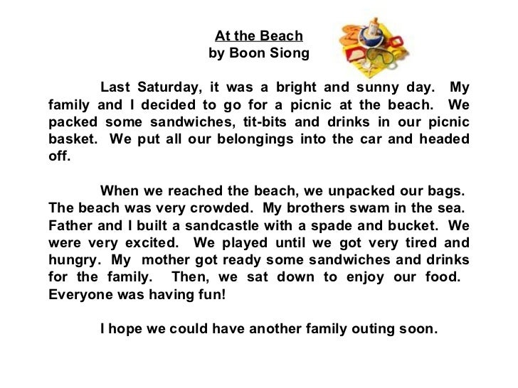 Essay about picnic at seaside
