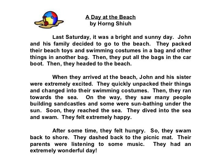 Essay describing a beautiful beach
