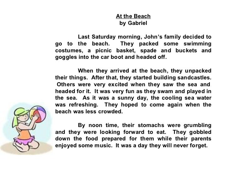 picnic at the beach essay in english