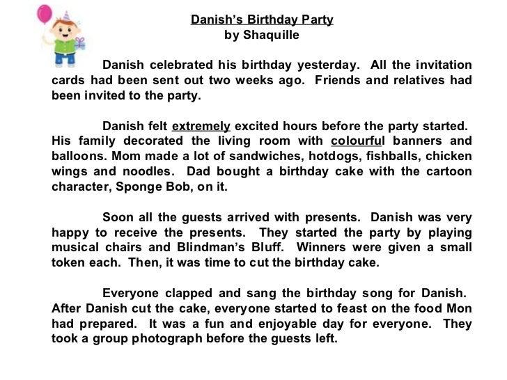 Essay on birthday celebration