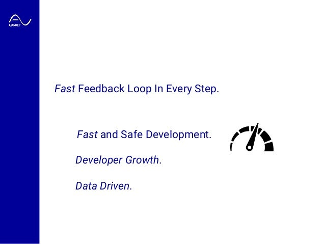 Fast and Safe Development. Developer Growth. Data Driven. Fast Feedback Loop In Every Step.