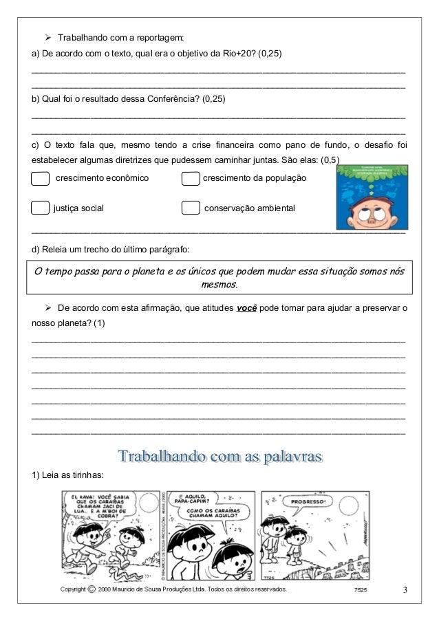Avaliação de Português 5º Ano 2º bimestre Slide 3