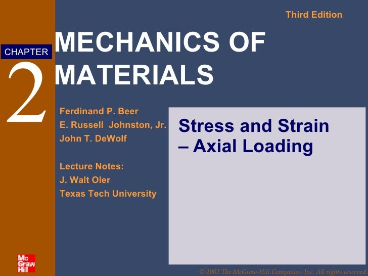 2 Stress and Strain – Axial Loading
