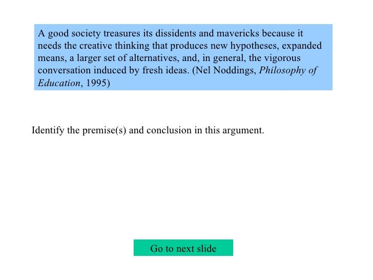 Premise Indicator Words: 2b