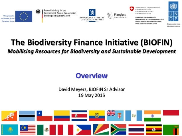 The Biodiversity Finance Initiative (BIOFIN) Mobilising Resources for Biodiversity and Sustainable Development Overview Da...