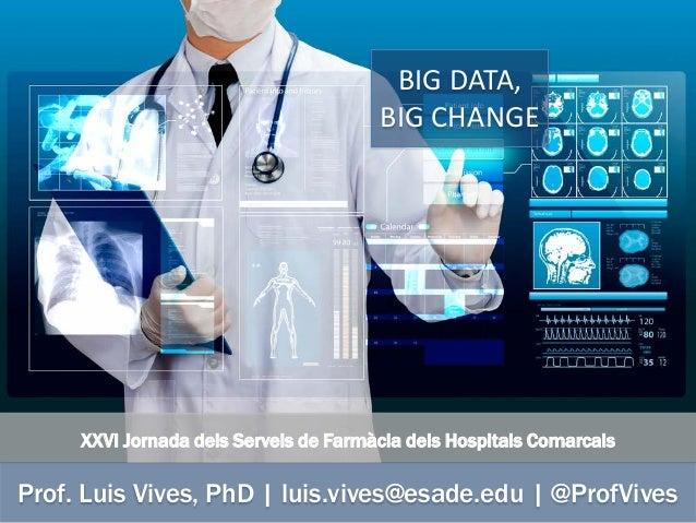 XXVI Jornada dels Serveis de Farmàcia dels Hospitals Comarcals Prof. Luis Vives, PhD | luis.vives@esade.edu | @ProfVives B...