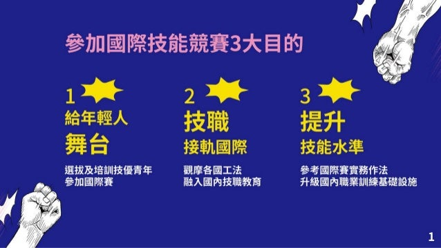 【懶人包】20201112勞動部:「國際技能競賽推動成效」報告