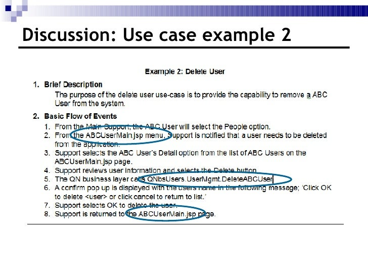How to write a use case