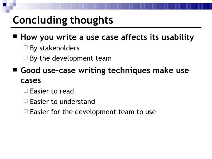 How to Write Effective Use Cases?