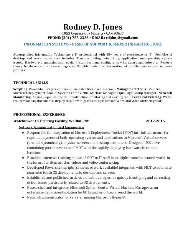Resume for RodneyJones IT