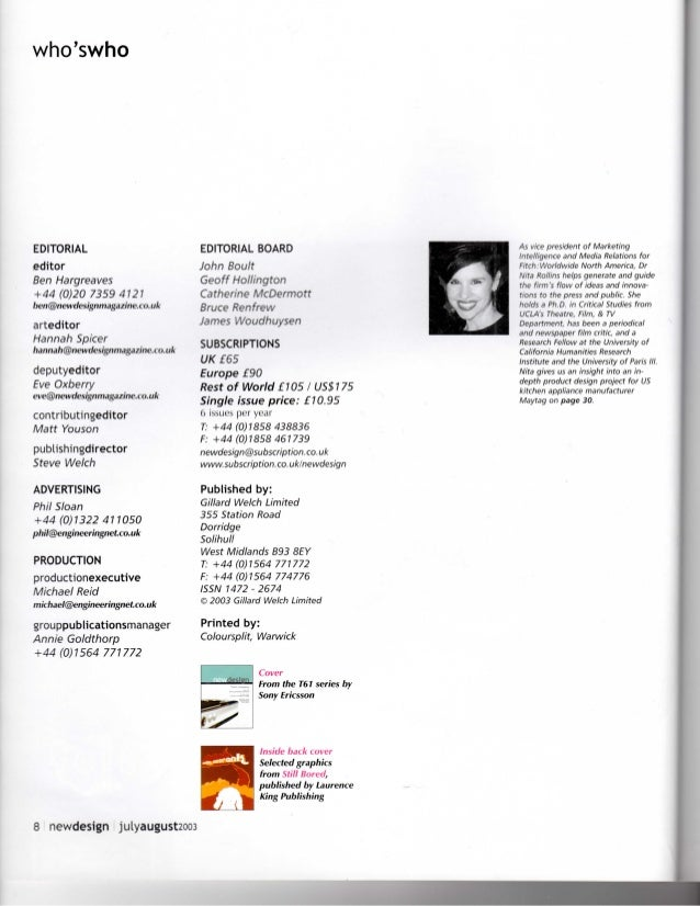 Countertop Culture_New Design_Jul Aug 2003_Nita Rollins
