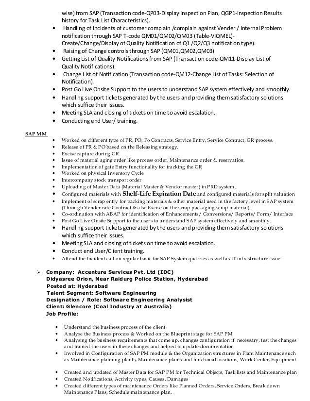 SAMBIT ResumeSAP PM PP Consultant