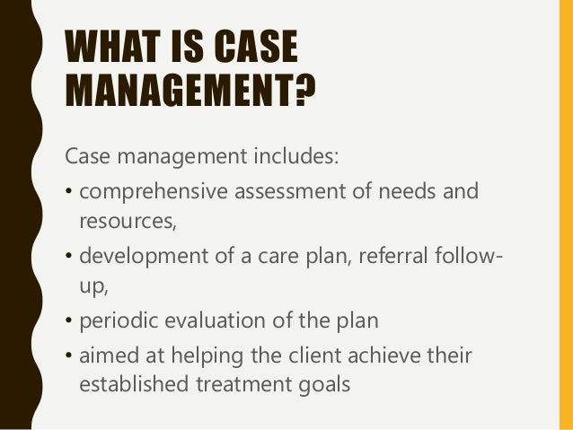 how to write a case management plan