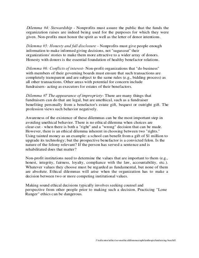 G Bukowski Ethics In Fundraising Handouts 10 25 16