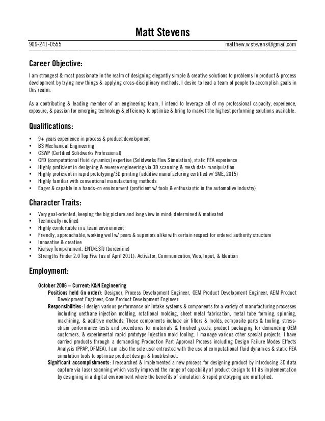 resume character traits - Etame.mibawa.co