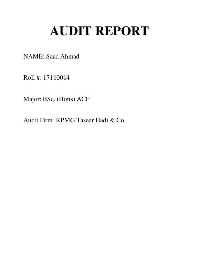 Kpmg audit report audit report name saad ahmad roll 17110014 major bsc thecheapjerseys Image collections
