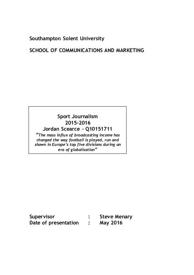 dissertation southampton solent