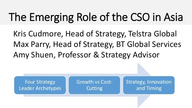 the emerging role of the cso in asia four strategy leader archetypes growth vs cost - Chief Strategy Officer Job Description