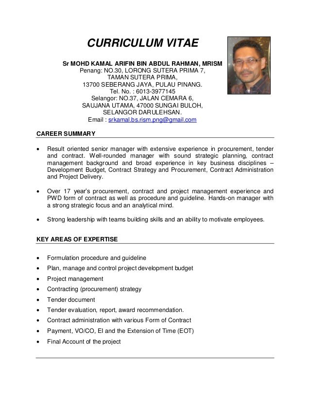 CV Kamal Terkini Apply Pr1ma. Broad Experience ...