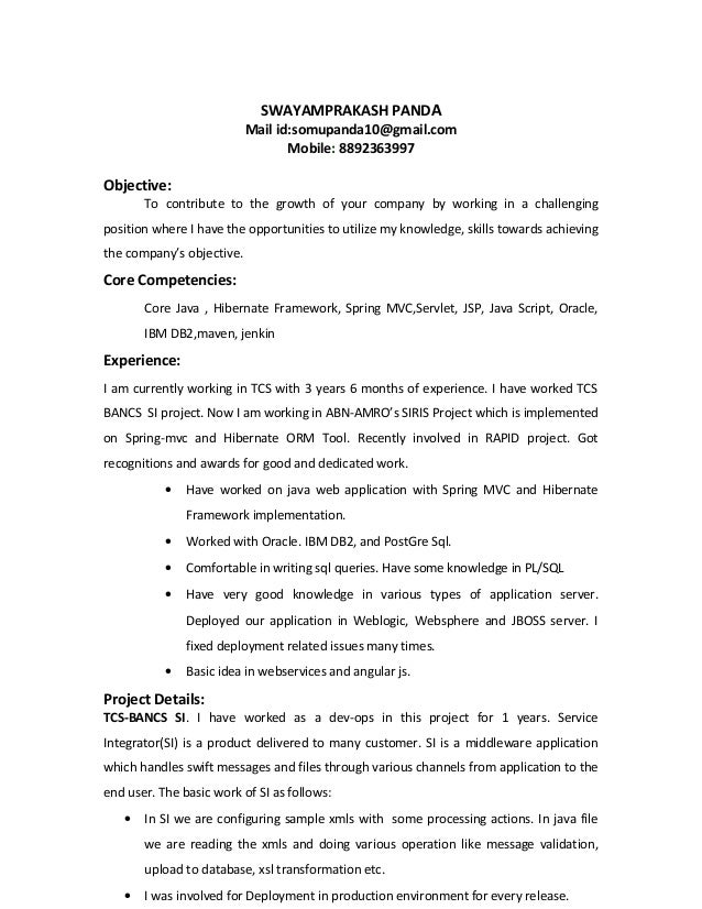 swayam resume