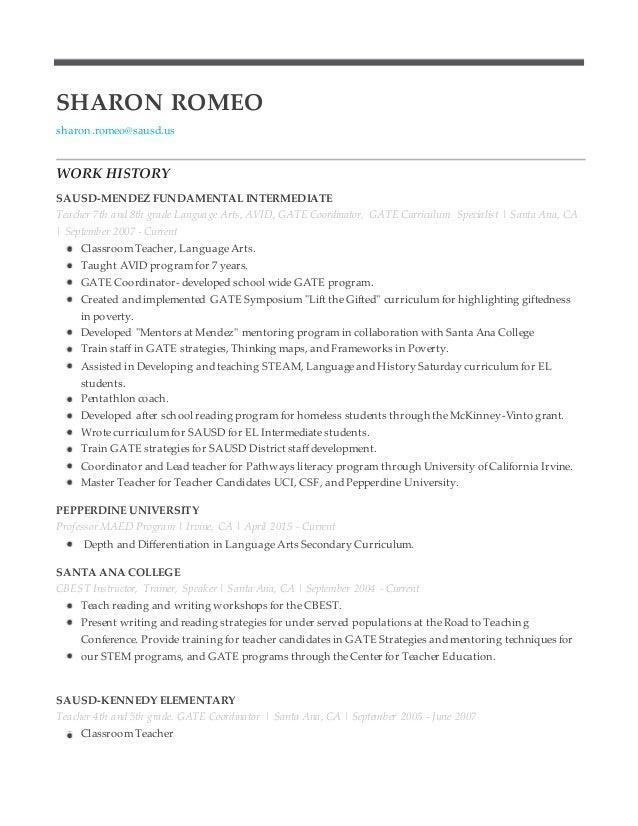 sharon romeo resume catoy21linkin