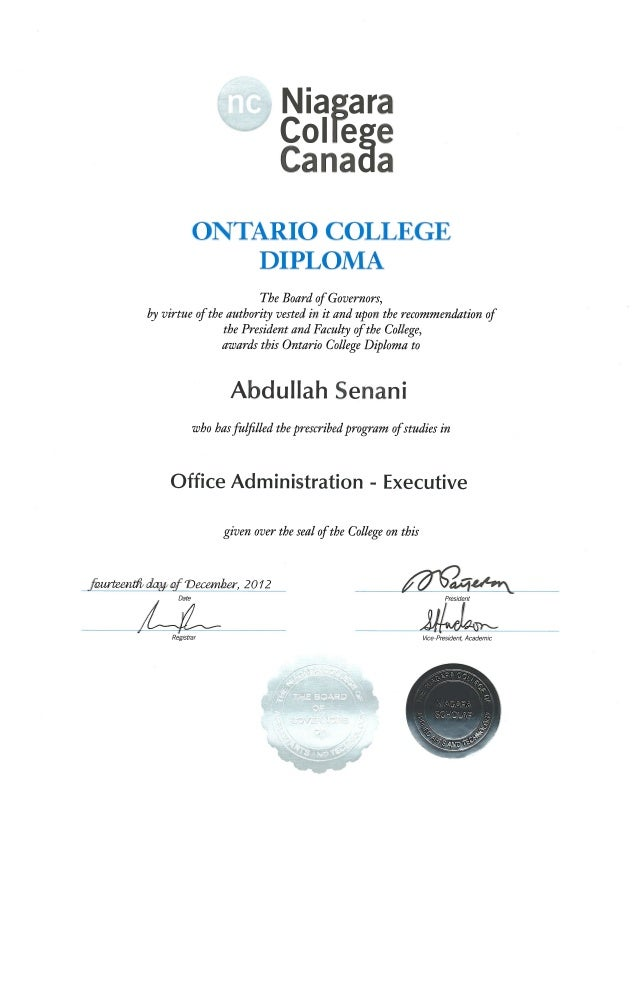 office administration executive niagara college pdf diploma office administration executive niagara college pdf