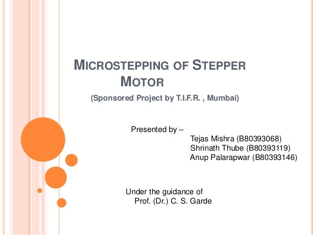 Microstepping Of Stepper Motor