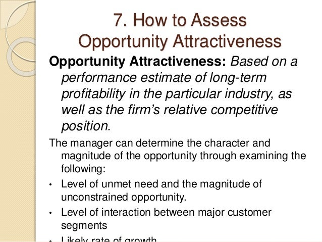 assign 1 analysing marketing opportunities Figure 1 potential determinants of a firm's choice of foreign markets   market  opportunities for new services are influenced by the facts that trade  this  master's thesis has been assigned by a small entrepreneur-led.