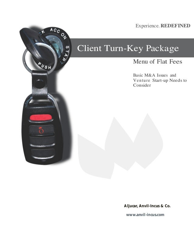 Experience. REDEFINEDClient Turn-Key Package               Menu of Flat Fees               Basic M&A Issues and           ...