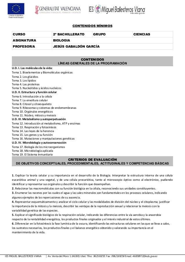IES MIGUEL BALLESTEROS VIANA Av. Venta del Moro 1 (46300) Utiel. Tfno: 962169255. Fax: 9962169256 Email: 46008972@edu.gva....