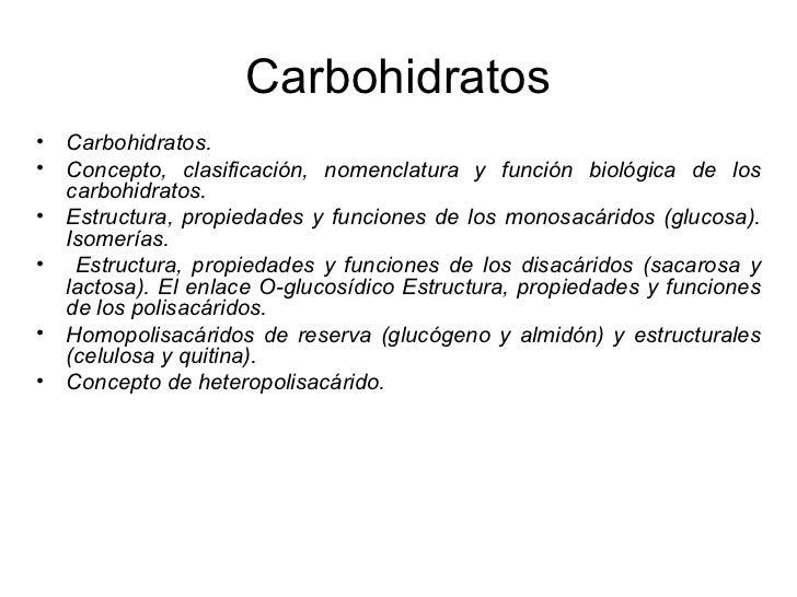 CARACTERÍSTICAS•   Constituidos por C,H,O (C,H2O)n•   Osas: Monosacáridos :     – Cadenas carbonadas (3-8 átomos de carbon...