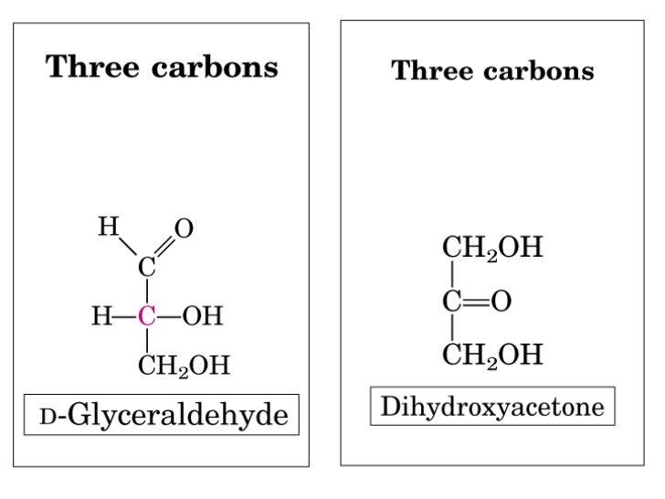 D-gliceraldehido   L-Gliceraldehido